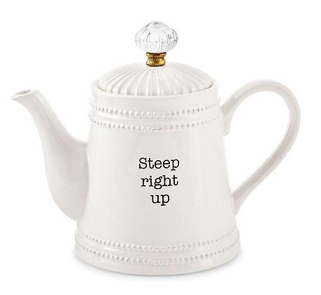 Steep Right Up Door Knob Teapot