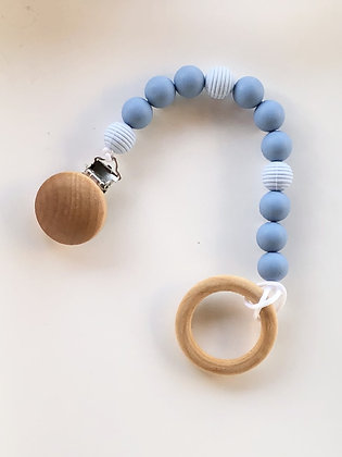 Baby Blue Pacifier Clip
