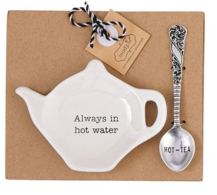 Hot Water Teapot Spoon Rest Set