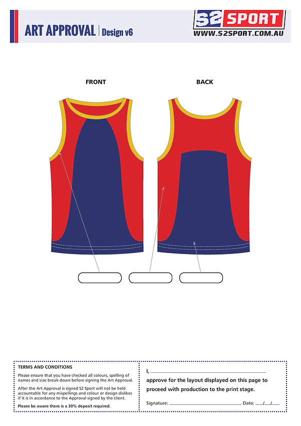 Customized Singlet Design V6