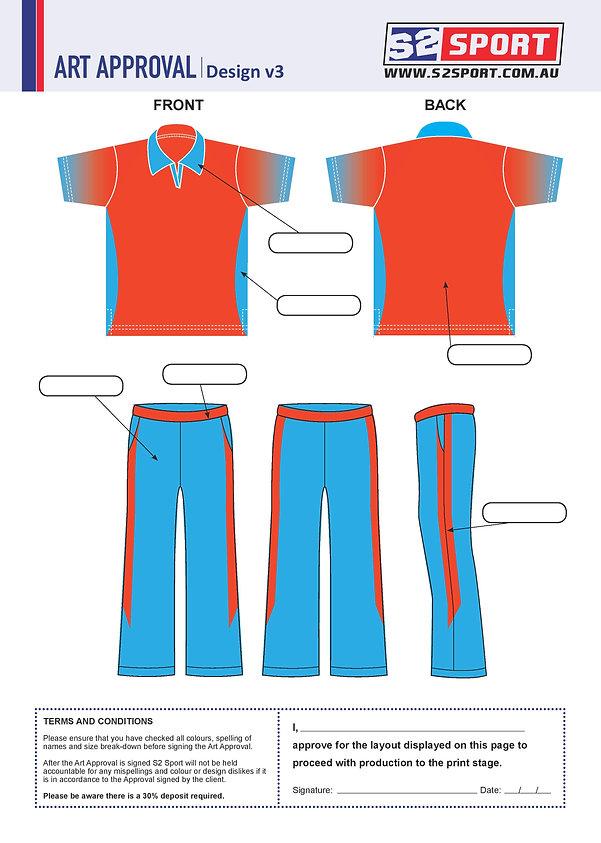 S2 Sports Customized Cricket Design V3