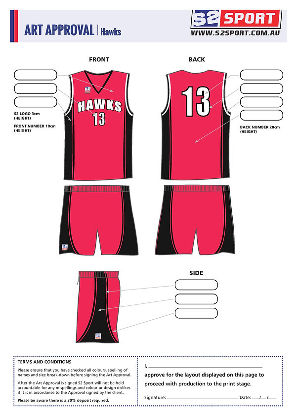 S2 Sports Customized Basketball Design V7 Hawks