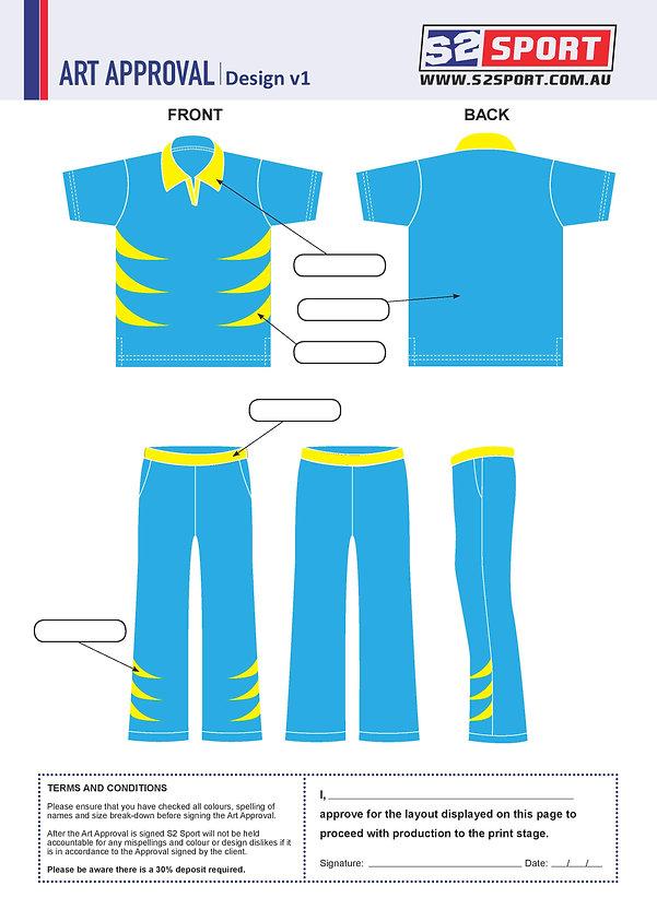 S2 Sports Customized Cricket Design V1