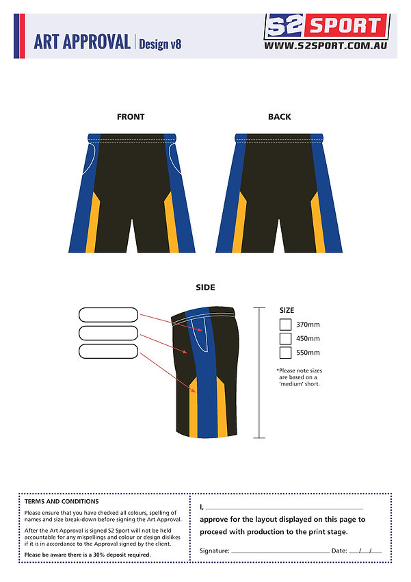 S2 Sports Customized Shorts Design V8