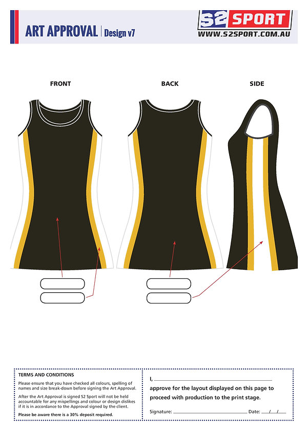 S2 Sports Customized Netball Design V7