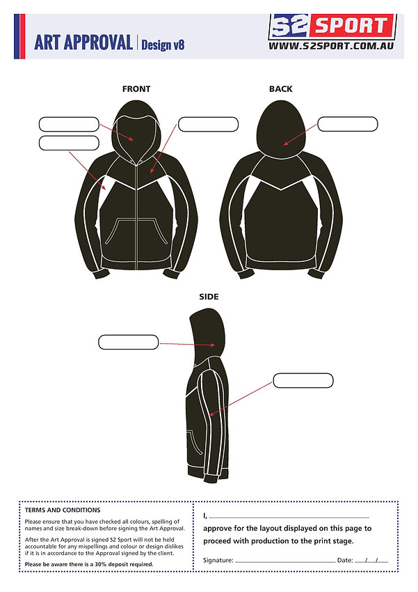 S2sport customized hoodie design v8