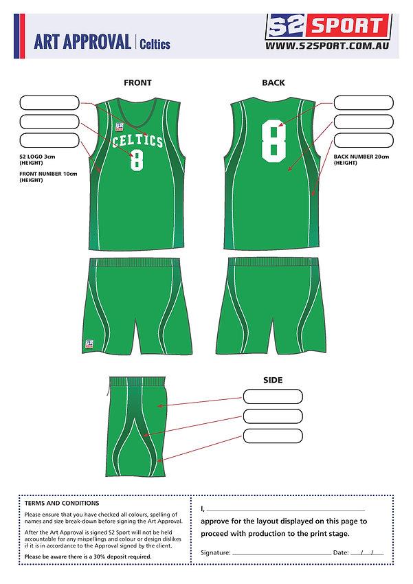S2 Sports Customized Basketball Design V1 Celtics
