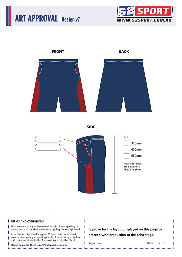 S2 Sports Customized Shorts Design V7