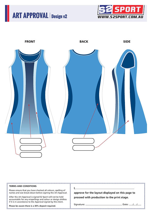 S2 Sports Customized Netball Design V2
