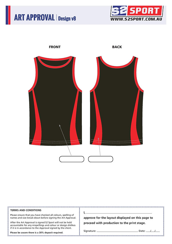 Customized Singlet Design V8