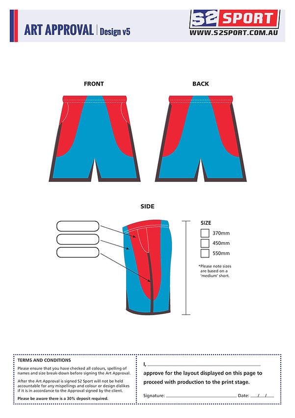 S2 Sports Customized Shorts Design V5