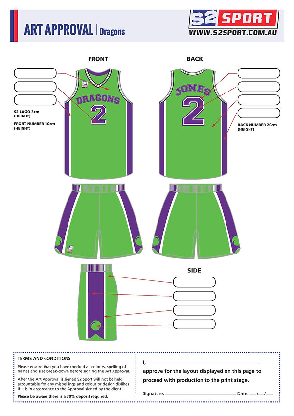 S2 Sports Customized Basketball Design V5 Dragons