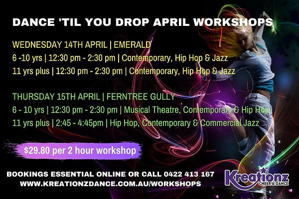 2021 April Dance 'til you Drop WORKSHOP