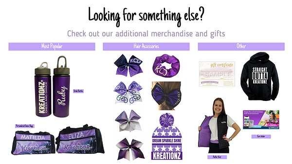 Kreationz Cheer and Dance Merchandise