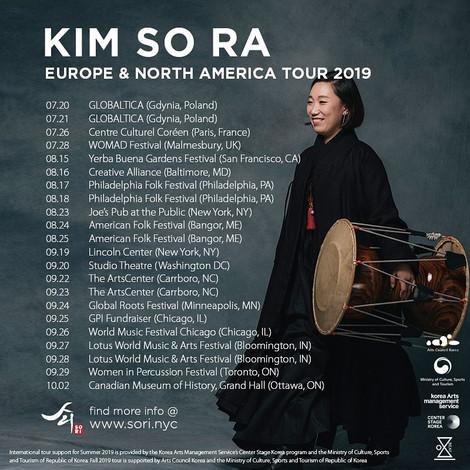 KIMSORA WORLD TOUR 2019