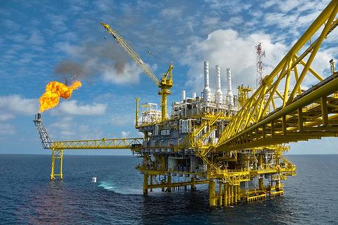 Oil and gas platform with gas burning, P