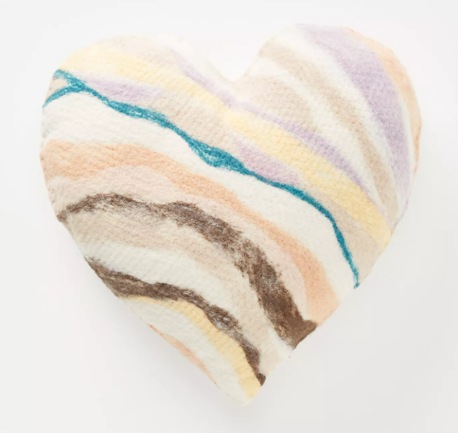 Valentine's day gift idea. Heart shaped pillow for valentine's day