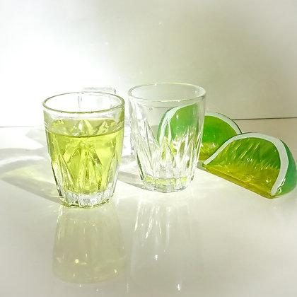 2 verres à liqueur MC Made in France