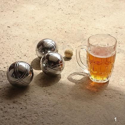2 Chopes à bière verre et cristal art déco XX° siècle (à l'unité ou en lot)