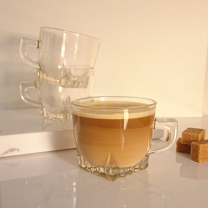 Tasse à café en verre (en lot ou à l'unité)