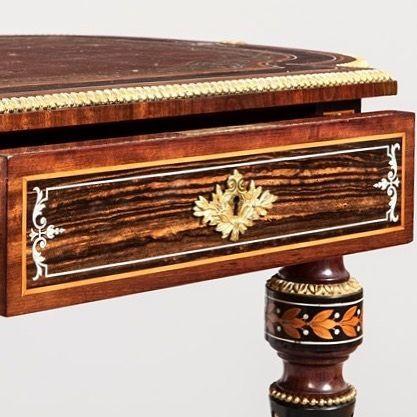 Antique coromandel wood furniture table