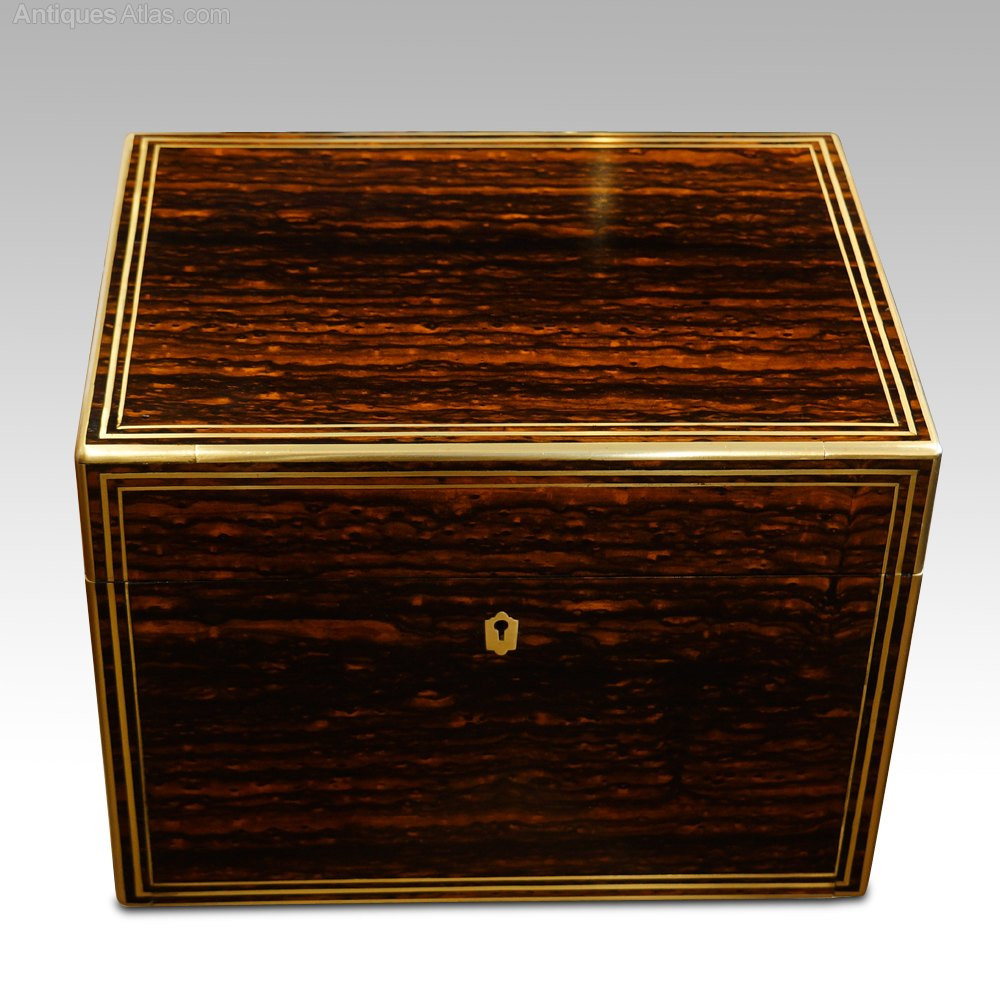 Antique coromandel wood box