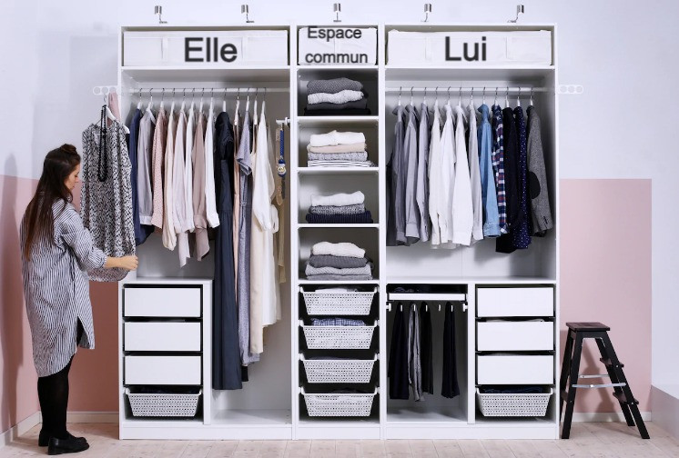 Astuce rangement dressing IKEA