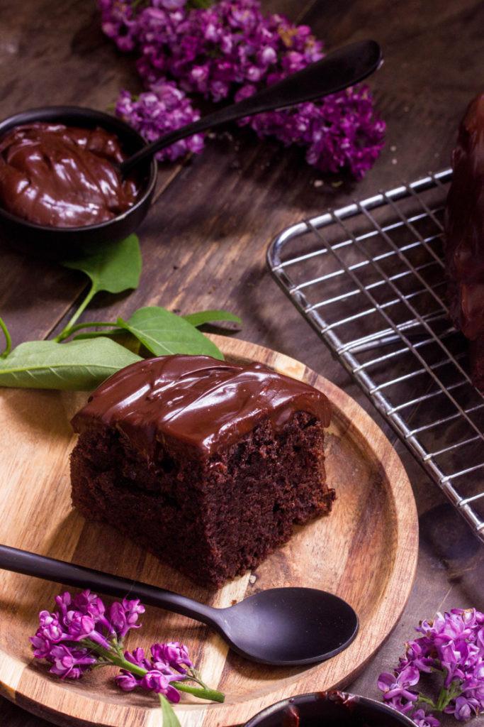 Gâteau au chocolat moelleux facile vegan