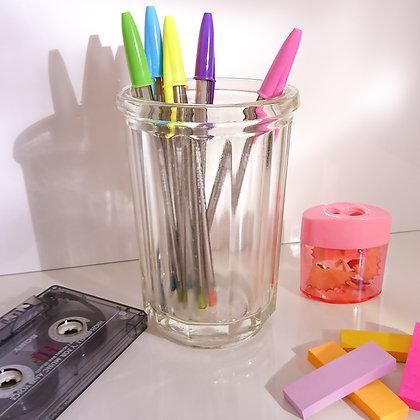 Pot à stylos en verre