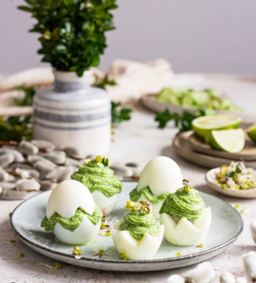 Easter recipe table idea