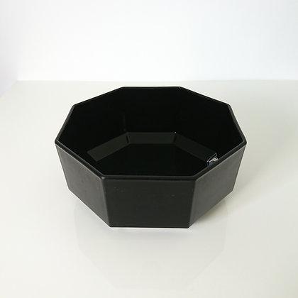 Saladier noir vintage Arcoroc Octime 17,5 cm verre trempé