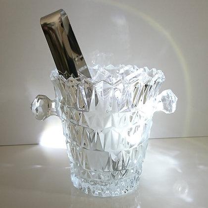 Seau à glace en cristal de Tchécoslovaquie - années 1950