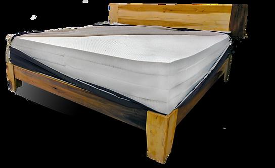 Custom made Layered organic mattress and frame.