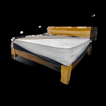 Customizable handmade organic mattress and frame.