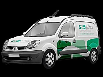 Vehicle Wrap design for Julia's Chiro Supplies