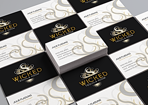 Business Card Design for Wicked Tequila Room-Loveland