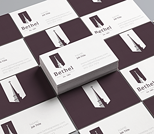 Business Card design for Bethel Baptist Church