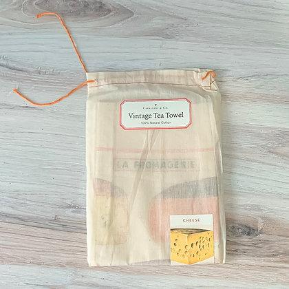 Cheese Tea Towel - Cavallini