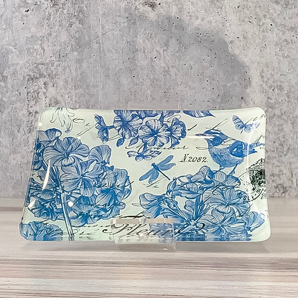 Indigo Cotton Glass Soap Dish