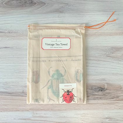 Insects tea Towel - Cavallini
