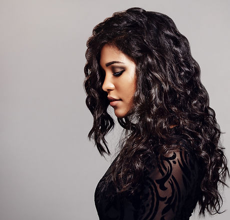 Female Model with Curly Hair
