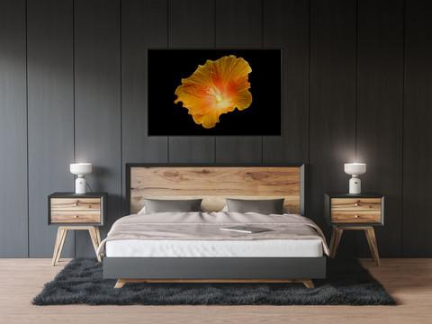 Wandbild - Oranje Leuchtblume.jpg