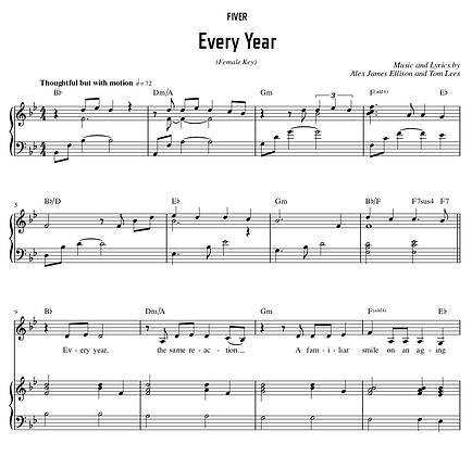 Every Year - Bb Major (Female Key)