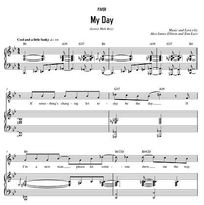 My Day - Bb Major (Lower Male Key)