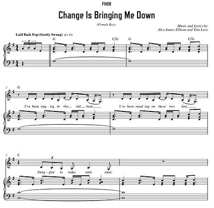 Change Is Bringing Me Down - G Major (Female Key)