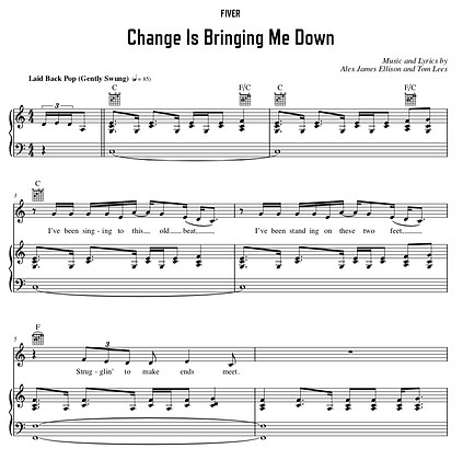 Change Is Bringing Me Down - C Major (Original Key)