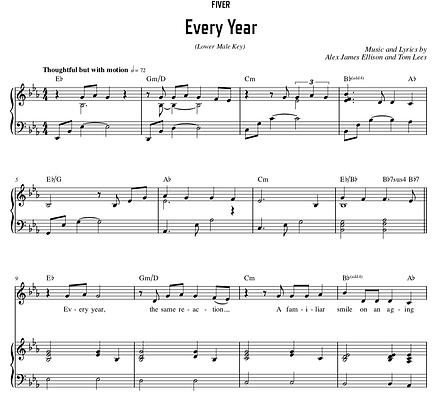 Every Year - Eb Major (Lower Male Key)