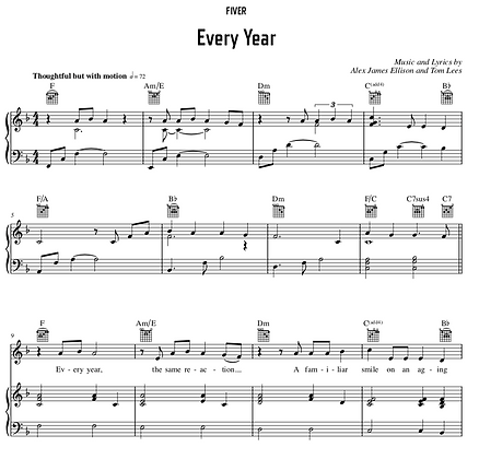 Every Year - F Major (Original Key)