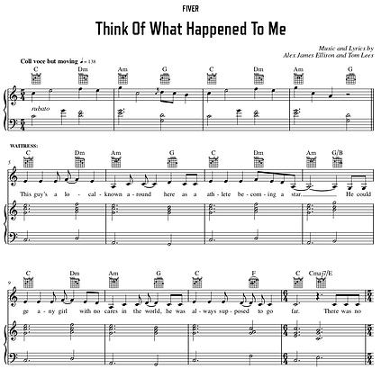 Think Of What Happened To Me - C Major (Original Key)