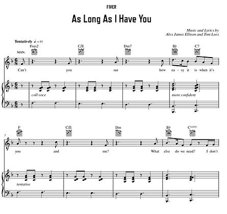 As Long As I Have You - F Major (Original Key)